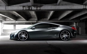 Picture Parking, silver, Acura NSX Concept
