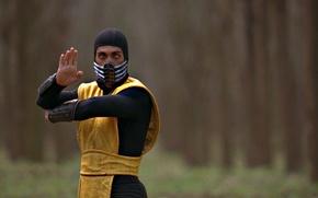 Picture Yellow, Ninja, Scorpio, Fighter, The film, Mortal Kombat, Mortal Kombat, Scorpion