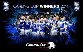 Picture wallpaper, sport, football, England, players, Birmingham City FC, Carling Cup Winners