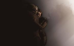 Picture girl, background, Mass Effect, Shepard, fan art, Garrus, Garrus, Shephard