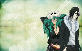 Picture anime, mask, Bleach, long hair, green eyes, bleach, Nell, Ulquiora, Espada
