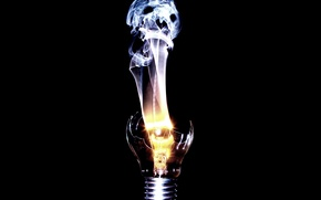 Picture light bulb, spirit, spiral