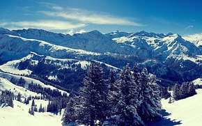 Picture winter, mountains, \Winter heart