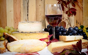 Picture autumn, wine, cheese, grapes, wine, grapes, cheese