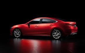Picture Red, Reflection, Auto, Mazda, Car