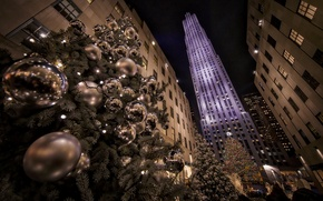 Wallpaper New York City, Rockefeller Center, Christmas Tree