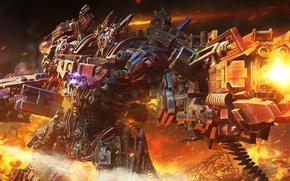 Picture the explosion, fiction, fire, robot, art, fire bot