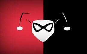 Picture minimalism, DC Comics, Harley Quinn, blo0p, Harley Quinn