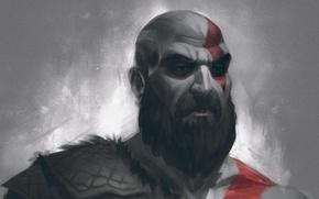 Picture Warrior, Sony, Kratos, Kratos, God Of War, 2017, Spartan
