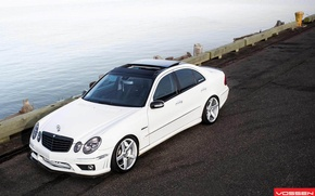 Picture Machine, Mercedes, Mercedes, Benz, Car, Car, Beautiful, White, Wallpapers, Tuning, Beautiful, Wallpaper, E Class, Vossen, …