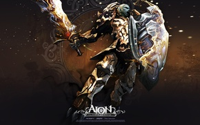 Picture sword, warrior, shield, AION