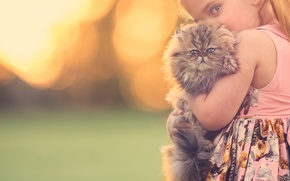 Picture girl, kitty, friends