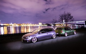 Picture green, volkswagen, wheels, golf, style, tuning, gti, germany, low, stance, mk4, mk6, vag