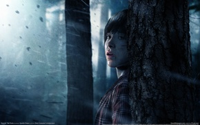 Picture forest, look, girl, trees, fear, rain, GameWallpapers, PS3, Beyond: Two Souls