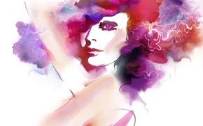 Picture look, paint, Tatiana Nikitina, drawn girl, Tatiana Nikitina