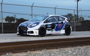Picture ford, rally, fiesta, 2013, T.Foust, global-rallycross