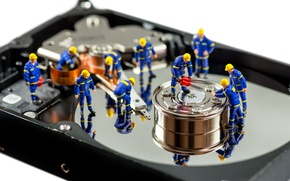 Picture hard disk, handling, cleaning, dolls