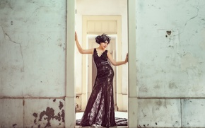 Wallpaper look, style, background, dress, Asian
