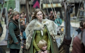 Picture child, Vikings, The Vikings, Alyssa Sutherland, Aslaug