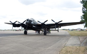 Picture bomber, the second world war, four-engine, Avro Lancaster