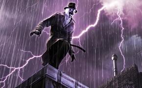 Wallpaper Keepers, lightning, Watchmen, Rorschach
