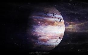 Picture stars, asteroids, Jupiter, the giant planet, jupiter