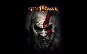 Picture Playstation 3, demigod, soldier, Kratos, God of War, general, man, face, PS3, captain, hero, spartan, …