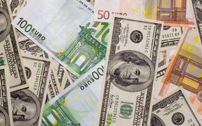 Wallpaper Euro, dollars, money, money, dollars, euro