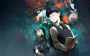 Picture anime, Tokyo Ghoul, Ken Kanek, Tokyo Ghoul, Kirishima Bring, Tsukiyama Shuu, Kamishiro Rize