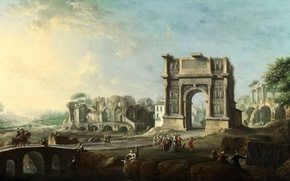 Picture landscape, picture, Antonio Joli