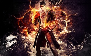 Picture demon, wallpaper, fists, Dante, dante, devil may cry 5, Dmc, Eryx