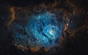 Picture space, space, stars, Laguna, Nebula, constellation, the universe, (M8)