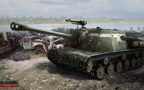 Picture tank, World of Tanks, ISU-122C.ISA