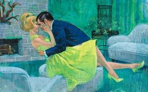 Picture figure, picture, artist, painting, Arthur Saron Sarnoff, romantic & love illustrations