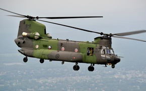 Picture flight, helicopter, transport, military, canadian, CH-47F, Chinook
