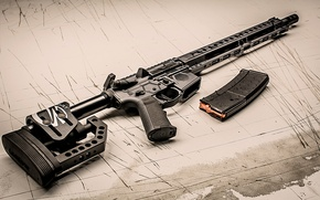 Wallpaper weapons, clip, assault rifle, LVOA-3G