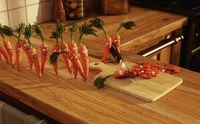 Picture joy, carrot, murder, kitchen