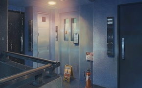 Picture Anime, Door, Lift, Makoto Xingkai, Anime, Wallpaper, Room, The room, The Wallpapers, Doors, The Garden …