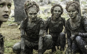 Picture girl, forest, woman, tree, north, A Song of Ice and Fire, Game of Thrones, warriors, ...