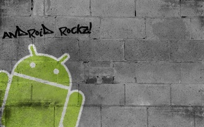 Picture wall, Android, graffiti