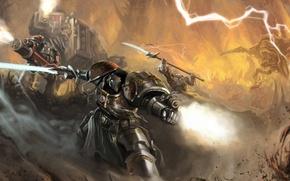 Picture weapons, zipper, robot, sword, art, Okita, warhammer 40k, space marines