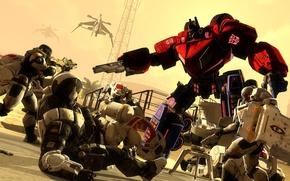 Picture Mass Effect, crossover, Transformers, Optimus Prime, Cerberus