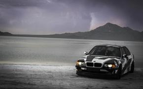 Picture BMW, Tuning, BMW, Alpina, E38, 740il, arctic camo, camo, wnter