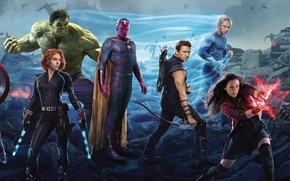 Picture Scarlett Johansson, Vision, Heroes, Hulk, the, Iron Man, Captain America, Super, Thor, Black Widow, Robert ...