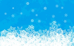 Wallpaper white, snowflakes, blue, new year