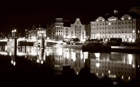 Picture reflection, the evening, Fishing village, Kaliningrad
