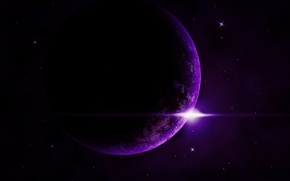 Picture space, star, purple, exoplanet