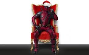 Picture Ryan Reynolds, Ryan Reynolds, Happy New Year, The film, Deadpool, Marvel, Deadpool, 2018, Merry Christmas, ...