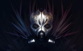 Picture eyes, face, mask, art, grivetart, Bastien Grivet, GAS, filter