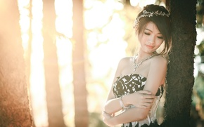 Picture girl, light, Asian